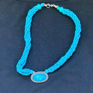 Turquoise-Coloured Necklace